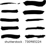 thick wet brush strokes vector... | Shutterstock .eps vector #730985224