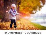 adorable happy baby girl... | Shutterstock . vector #730988398