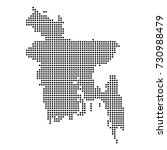 dotted map of bangladesh | Shutterstock .eps vector #730988479