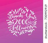 lettering thank you design... | Shutterstock .eps vector #730992919