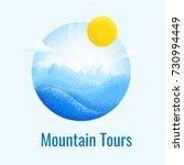 winter mountain landscape...   Shutterstock .eps vector #730994449