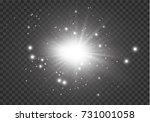 glow light effect. star burst... | Shutterstock .eps vector #731001058