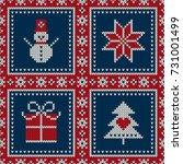 Winter Holiday Seamless Knitte...