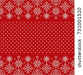 christmas seamless knitted... | Shutterstock .eps vector #731001520