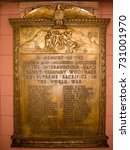 Small photo of New York City - Nov 16, 2006: Grand Central/42 Street Subway Station - IRT World War Memorial. In memory of the of Interborough Rapid Transit Company who made the supreme sacrifice in the World War.