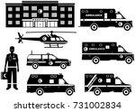 medical concept. set of... | Shutterstock .eps vector #731002834