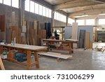 carpentry shop | Shutterstock . vector #731006299