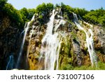 waterfall in the national park... | Shutterstock . vector #731007106