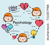 set psychology problem and... | Shutterstock .eps vector #731007988