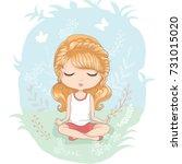 vector illustration of a cute... | Shutterstock .eps vector #731015020