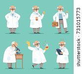 character of old scientist or... | Shutterstock .eps vector #731015773