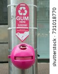 Small photo of September 2017, Southend on Sea, Essex, England, the local authority has recently fitted gum bins in an attempt to reduce inconsiderate disposal of chewing gum.