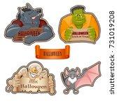 set of characters for halloween ... | Shutterstock .eps vector #731019208