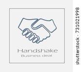 handshake illustration. hands...   Shutterstock .eps vector #731021998