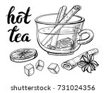 cup of tea vector.hand drawn...   Shutterstock .eps vector #731024356