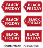 black friday labels banners | Shutterstock .eps vector #731030458