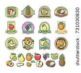 fruit badge templates labels... | Shutterstock .eps vector #731030830