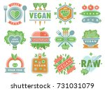 organic vegan healthy food eco... | Shutterstock .eps vector #731031079