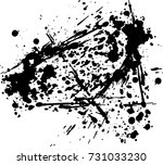 abstract black ink splash... | Shutterstock .eps vector #731033230