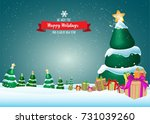 winter holiday christmas and... | Shutterstock .eps vector #731039260