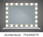 mirror in frame with light... | Shutterstock .eps vector #731040274