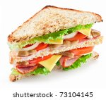 sandwich with bacon and... | Shutterstock . vector #73104145
