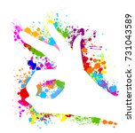 hand color print ok. vector | Shutterstock .eps vector #731043589