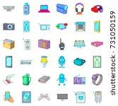 screen icons set. cartoon style ... | Shutterstock .eps vector #731050159