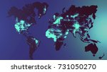 digital world map | Shutterstock . vector #731050270