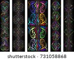 illustration of banners with... | Shutterstock . vector #731058868