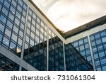 office building sun flare... | Shutterstock . vector #731061304