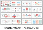 set of medical and healthcare... | Shutterstock .eps vector #731061943