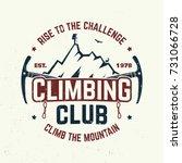 climbing club badge. vector.... | Shutterstock .eps vector #731066728