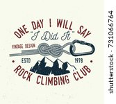 climbing club badge. vector.... | Shutterstock .eps vector #731066764