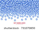 vector 3d social network like... | Shutterstock .eps vector #731070850