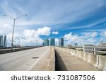 miami highway or public road... | Shutterstock . vector #731087506