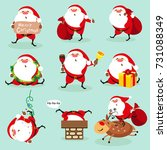 santa claus  christmas set   Shutterstock . vector #731088349