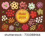 pizza making banner and menu... | Shutterstock .eps vector #731088466