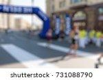 marathon in the city theme...   Shutterstock . vector #731088790