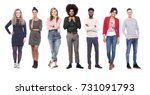 group of people | Shutterstock . vector #731091793