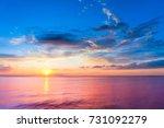 fiery backdrop setting into the ... | Shutterstock . vector #731092279