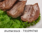 boiled beef tongue with... | Shutterstock . vector #731094760