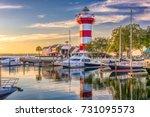 hilton head  south carolina ... | Shutterstock . vector #731095573