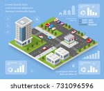 urban district of the city in... | Shutterstock .eps vector #731096596