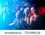 dance party with group people... | Shutterstock . vector #731098126