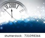 shining 2018 new year... | Shutterstock .eps vector #731098366