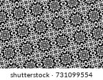 ornament with elements of black ... | Shutterstock . vector #731099554