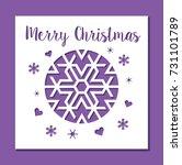 christmas snowflake ornament... | Shutterstock .eps vector #731101789