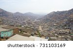 slums surrounding lima  peru ... | Shutterstock . vector #731103169