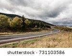 rainy autumn in the mountains | Shutterstock . vector #731103586
